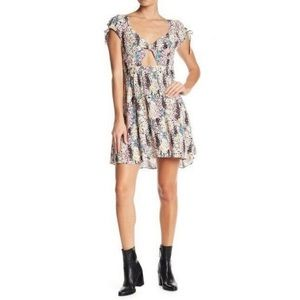 Free People Miss Right Floral Print skater dress M